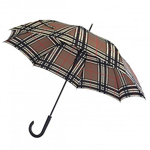 Paraplu Kinematic groot stabiel windbestendig met automatische checks Brown