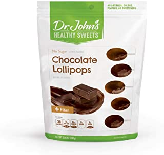 Dr. John's Healthy Sweets Sugar Free Chocolate Oval Lollipops (3.85OZ)