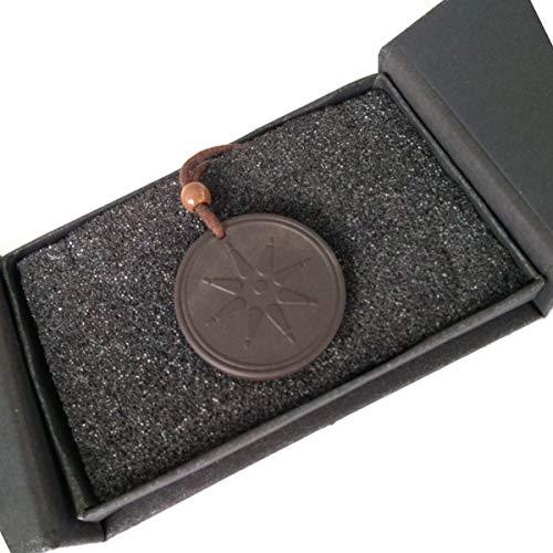 Natuxia Lavastein und Schwarzer Turmalin Kette, EMF-Schutz Halskette mit Negative Ionen, Elektrosmog Schutz Anhänger, Stern