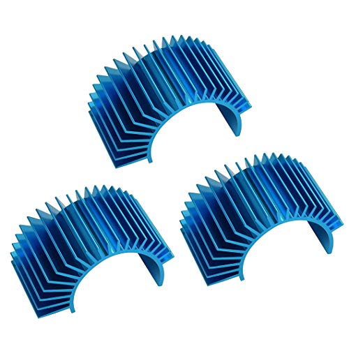 JFtech Aluminum Electric Motor Heat Sink 540 550 Motor Heatsink Cooling Fins for RC HSP Tamiya Traxxas 1/10 Car (pack of 3)