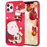 Pnakqil Coque pour Xiaomi Redmi Note 8 6,3 pouces en silicone TPU souple rouge avec motif de Noël...