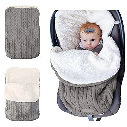 Baby Swaddle Blanket Stroller Wrap Fleece Blanket Sleeping Bag Plus Velvet