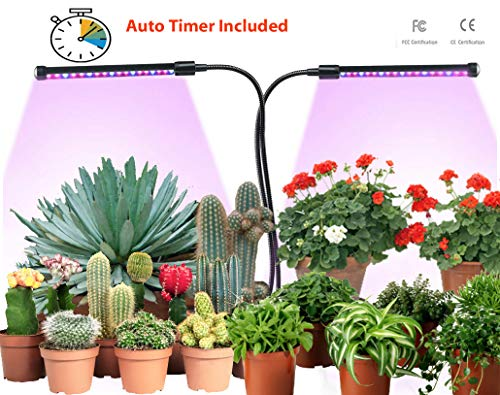 LED Grow Lights for Indoor Plants, Grow Light Bulbs, Clip On, Desk, Grow Lamp w/Timer, Use for Herbs, Seed Starter, Clone Kit, Indoor Gardening, Greenhouse, Germination Kit, or Hydroponic