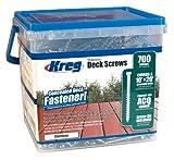 KREG SDK-C2SS-700 2-Inch, 8 Coarse, Stainless Steel Deck Screw, 700 Ct