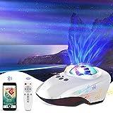 HQKNIGHT Proyector Estrellas, Proyector Estrellas Techo Adultoscon Bluetooth Altavoz/Control Remoto 14 Modos Romántica...