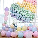 O-Kinee Luftballons Pastell,100 Stücke Latex Farbige Ballons, Bunt Macaron Luftballoons für Party Dekorative Ballons,Geburtstag Hochzeit Engagement Baby Dusche