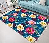 XuJinzisa Flower Cluster Carpet Area Carpet Dreamy Sky and Blue...