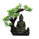 LAHappy Buda Sentado Estatua Decoraciones, Decoraciones del Acuario de Buda Figura de Buda de Interi...