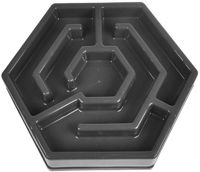 FOREVERYOU Dog Bowl Slow Food Bowl Dog Food Bowl Puppies Single Bowl AntiChoking Slow Food cat Bowl, Black
