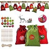 KATELUO 24 Calendario de Adviento, Bolsa de Regalo Navidad,