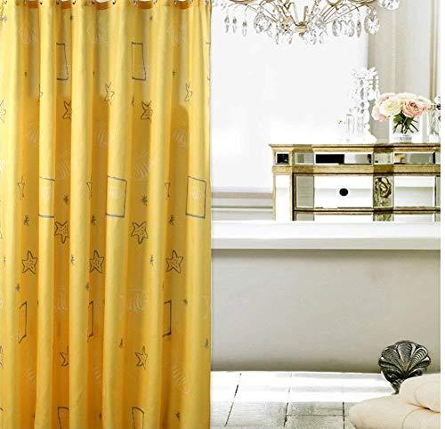 ZHENYUE Duschvorhang waterproo Polyester verdicken gelbe Schale Sen Link aggraate Pflaume o-M