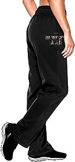 MEGGE Women's The Magnificent Seven Drawstring Fleece Sweatpants Black
