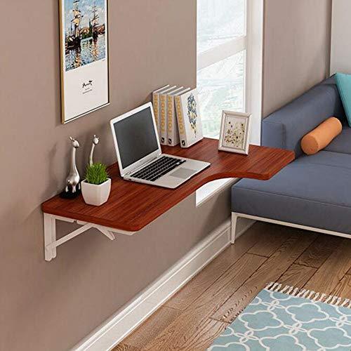 QZH Mesa Plegable de Pared, Mesa de Comedor, Escritorio de computadora con Hoja abatible, Escritorio para Notas (5 Colores, 4 tamaños) (D, 80 * 50 cm)