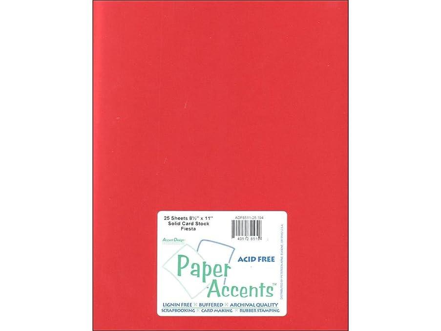Accent Design Paper Accents Cdstk Smooth 8.5x11 65# Fiesta