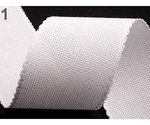 3m Blanco Natural de la tela/tejido con agujas de Bordado Ancho de banda de 70 mm de Borde Festoneado, (