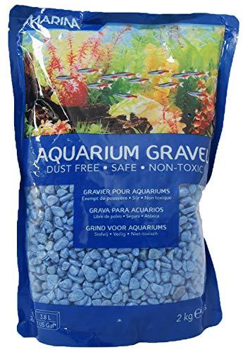 Marina Decorative Aquarium Surf Gravel, 2 Kg, Blu
