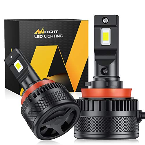 Nilight A9 H11 LED Headlight Bulbs, H11 / H9 / H8 LED Headlights Conversion Kit, H11 Low Beam / H9...