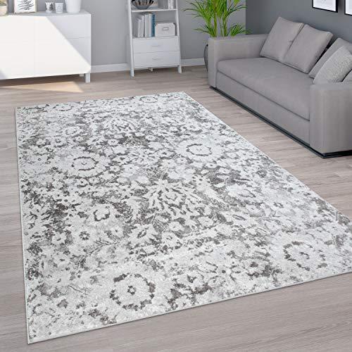 Paco Home Teppich Wohnzimmer Kurzflor Vintage Orient Muster Moderne Ornamente Creme Beige, Grösse:160x220 cm