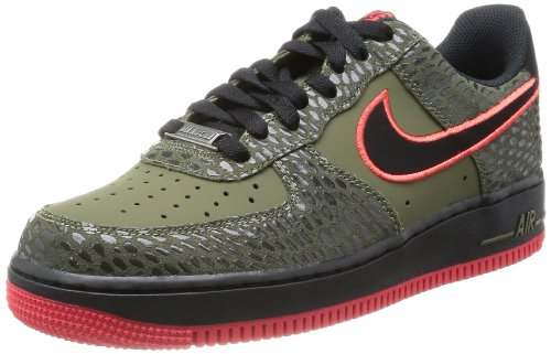 Nike Herren AIR FORCE 1 '07' Low-Top, schwarz/schwarz, 43 EU