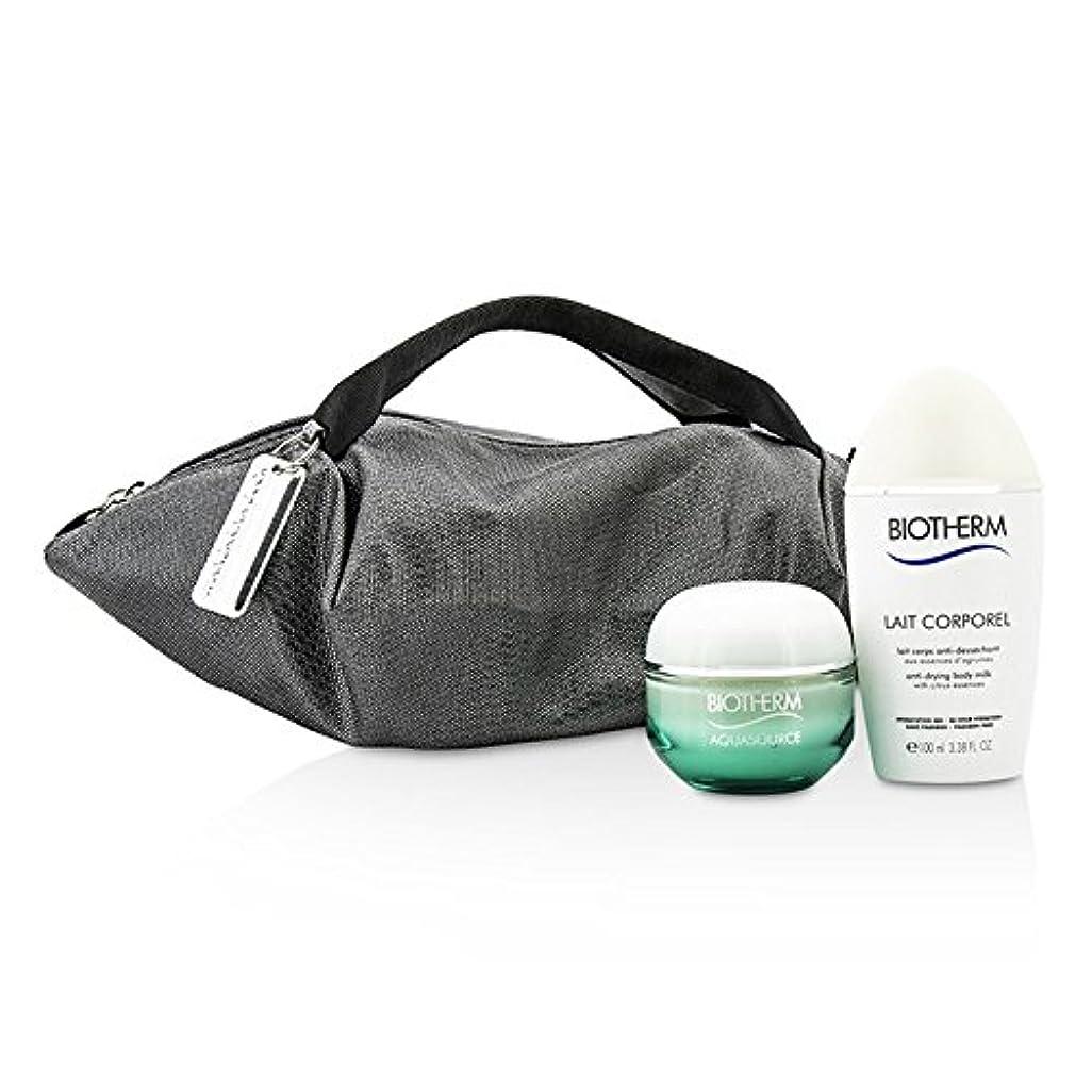 説教たくさんの逸話ビオテルム Aquasource & Body Care X Mandarina Duck Coffret: Cream N/C 50ml + Anti-Drying Body Care 100ml + Handle Bag 2pcs+1bag並行輸入品
