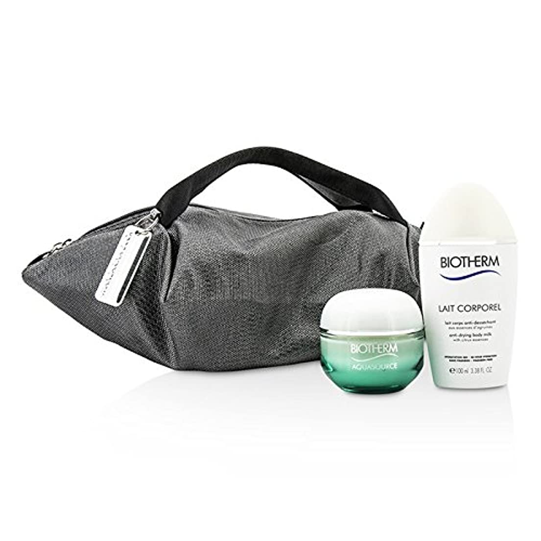 種類共和党比喩ビオテルム Aquasource & Body Care X Mandarina Duck Coffret: Cream N/C 50ml + Anti-Drying Body Care 100ml + Handle Bag 2pcs+1bag並行輸入品