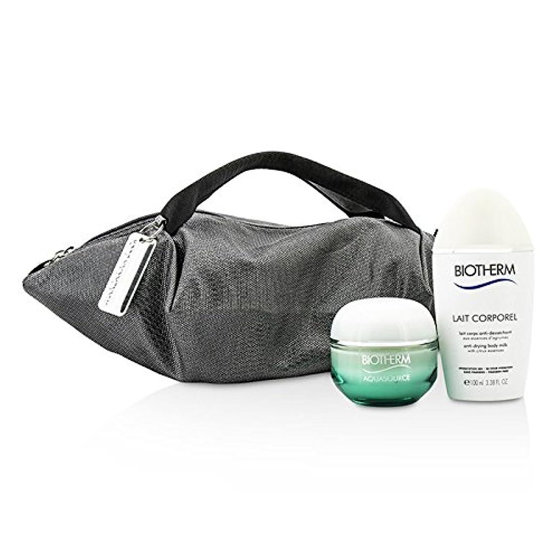 書誌スチュワーデス感覚ビオテルム Aquasource & Body Care X Mandarina Duck Coffret: Cream N/C 50ml + Anti-Drying Body Care 100ml + Handle Bag 2pcs+1bag並行輸入品