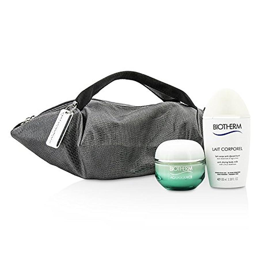 以来航空便異常なビオテルム Aquasource & Body Care X Mandarina Duck Coffret: Cream N/C 50ml + Anti-Drying Body Care 100ml + Handle Bag 2pcs+1bag並行輸入品