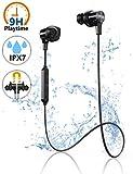 Écouteurs Bluetooth, Écouteurs Sport sans Fil avec Antibruit Microphone, IPX7 Étanche, 9 Heures de Temps de Lecture, Ecouteur Intra-Auriculaire pour Sport/Jogging, iPhone/Android
