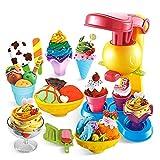 Ouzhoub 19 Piezas de plastilina Ice Cream Juego Set Los Juegos de simulación Juguete de la casa Kit Gran Regalo for niñas y niños - Mejor de 3, 4, 5 años de y hacia Arriba (Color : 19 Pieces)