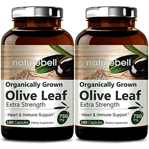 Organically Grown Olive Leaf Extract 750mg, 180 Capsules,...
