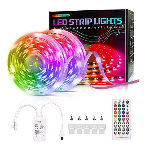 Wandskllss Tira de luces LED RGB Led tira 26 teclas remoto para dormitorio hogar pared techo Festival fiesta 10 metros