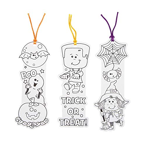 Color Your Own Halloween Friends Shaped Bookmarks - Crafts for Kids and Fun Home Activities