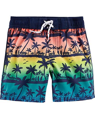 Osh Kosh Boys' Toddler Swim Trunks, Palm Trees, 4T
