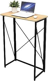 Foldable Table موقف دائم مريح للطي مكتب الكمبيوتر الكتابة طاولة العمل محطة العمل للوقوف أو الجلوس Home Office Furniture