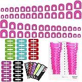 stencil per mettere smalto unghie Fiyuer 300 Pcs adesivo pratico a forma di u per la protezione delle protettore per lucidare Unghie Sfumatura di Colore Punzonatura