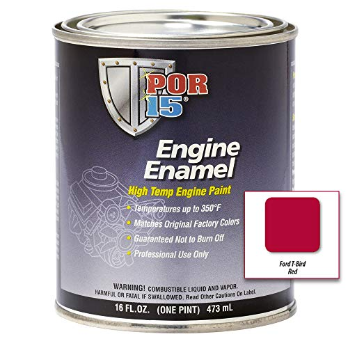 POR-15 42098 Classic Ford Red Engine Enamel - 1 pint
