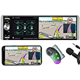 SCUMAXCON Car Stereo Radio Bluetooth FM/AM/RDS SD USB AUX RVC SWC MP5 Player Receivers MirrorLink Touch TFT Screen with Steering Wheel Remote Control