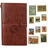 Our Adventure Book Journal Refillable Notebook Leather Notepad Travel Diary With Card Slots and...