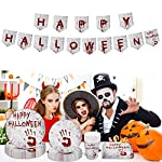 Hongfago-98-Pcs-Halloween-Party-Tableware-Set-Serves-24-Guests-Halloween-Dinnerware-Including-Paper-Plates-Cups-Napkins-and-Tablecloth-for-Halloween-Party-Supplies