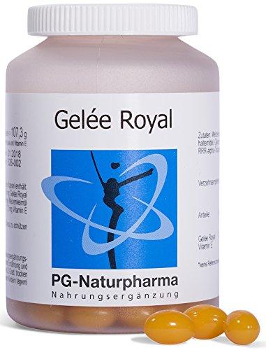 Gelee Royal, 150 Kapseln mit Vitamin E, 166,6 mg Gelée Royal (entspr. 500mg frischem Gelee Royale)...