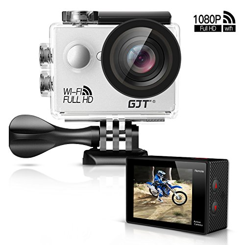 """GJT GA1 1080P Action Camera 12MP Full HD Sports Camera WiFi 30M Waterproof Cam DV Camcorder 2"""" LCD, 170° Wide Angle Lens with Multi Accessories"""