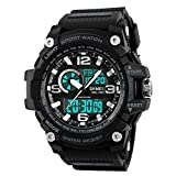 SKMEI Men's Digital Sports Watch, Military Waterproof Watches LED Screen Large Face Stopwatch