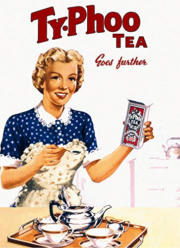 PotteLove Ty-Phoo Tea Metal Sign,Retro,Shabby-Chic,Vintage Aluminum Metal Signs Tin Plaque Wall Art Poster For Garage Man Cave Beer Cafe Bar Pub Club Patio Home Decor 12