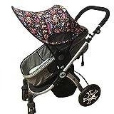 Baby Stroller Sun Shade Sun Protection Pram for Strollers Car Pushchair Buggy Sunshade Parasol Sun Rain Canopy Cover Protection Stroller Accessories Awning Anti-UV Umbrella Sun Shade (Red)