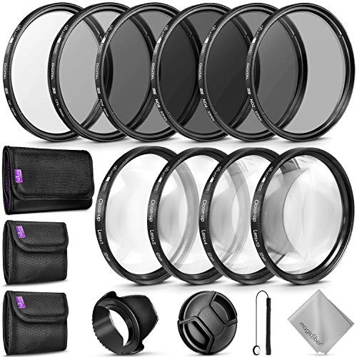 52MM Complete Lens Filter Accessory Kit for Nikon D3300 D3200 D3100 D3000 D5300 D5200 D5100 D5000 D7000 D7100 DSLR Camera