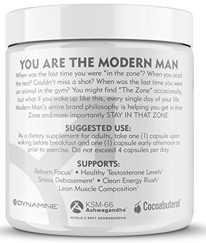 Modern Man V3 - Testosterone Booster + Thermogenic Fat Burner for Men, Boost Focus, Energy & Alpha Drive - Anabolic Weight Loss Supplement & Lean Muscle Builder | Lose Belly Fat - 60 Pills 2
