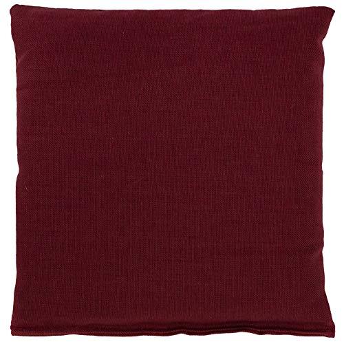 Cojín de semillas 12x12cm burdeos | Saco térmico | Pequeña almohada térmica | Pepitas de uva