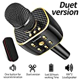 Dual Sing Duet Version Wireless Bluetooth Karaoke Microphone, Portable Handheld Karaoke Speaker Machine Christmas Birthday Home Party for Android/iPhone/PC or All Smartphone