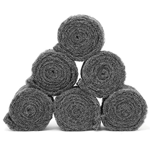 Xcluder Rodent Control Fill Fabric 6 Rolls of Steel Wool Blend to Protect Home from Rats and Mice