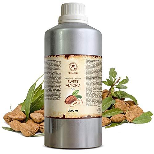 Aceite de Almendras Dulces 2500ml - Prunus Amygdalus Dulcis Oil - Italia - Mejor Aceite para el Cuidado de la Piel - Cabello - Cuerpo - Masaje - Cuidado Personal por los Aceites de Almendra